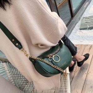 Hunter Green Leather Crossbody Bag